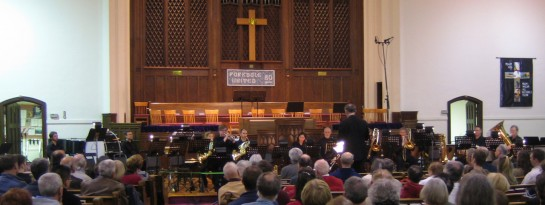 Capital BrassWorks group playing the Dramatic Brass concert on March 25, 2011